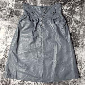 Vintage Humor Pécs Leather Full Length 80's Skirt